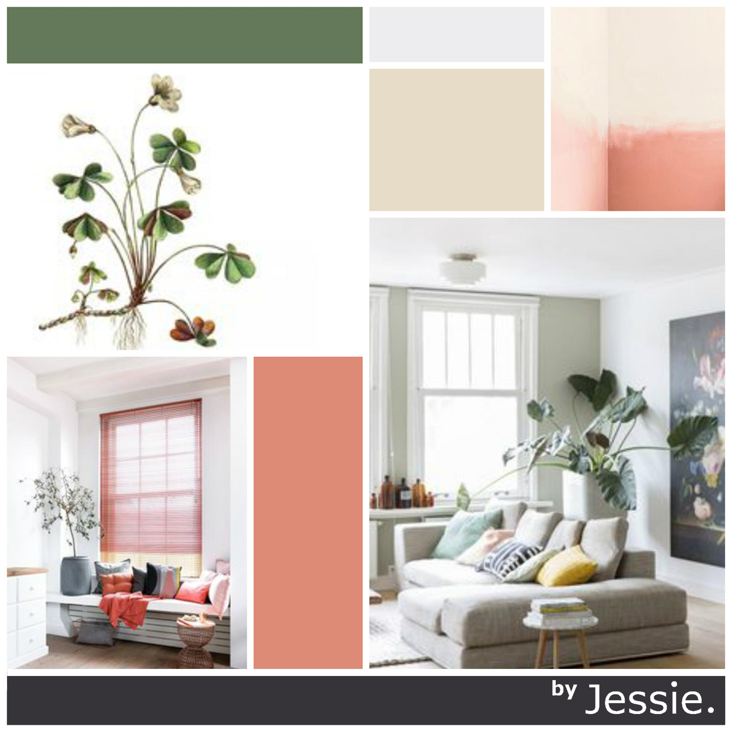Portfolio byJessie. Moodboard Pink Plants Urban Jungle